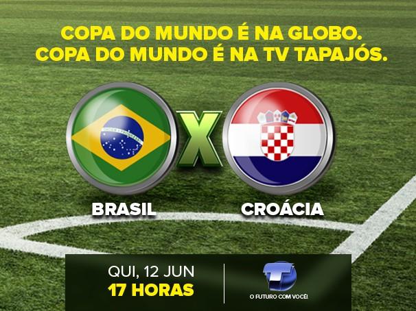 A tão aguardada estreia da Seleção Brasileira na Copa do Mundo disputada em casa, começa às 17h no jogo contra a Croácia (Foto: Tato Gomes/ Editor de arte TV Tapajós)