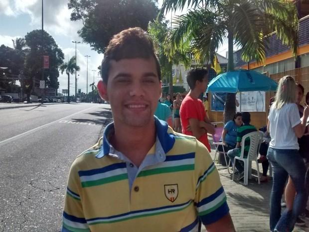 ENEM 2015 - SÁBADO (24) - JOÃO PESSOA (PB) . Candidato diz que nem leu a prova (Foto: Felipe Ramos/ G1 PB)