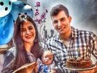 Lucilene Caetano e Felipe Sertanejo comemoram primeiro mês de Theo