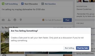 DeepText: Facebook entende que você quer vender algo e sugere post de produto (Foto: Reprodução/TechCrunch)