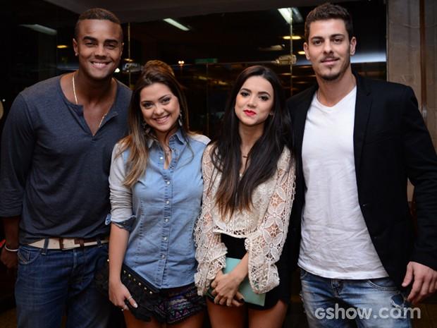 Jorge de Sá, Polliana Laeixo, Mani Gavassi e Sacha Bali (Foto: Raphael Dias / TV Globo)