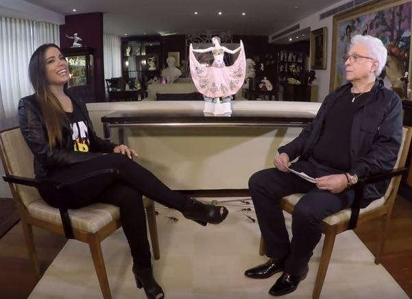 Anitta e Aguinaldo Silva (Foto: Reprodução/Youtube)