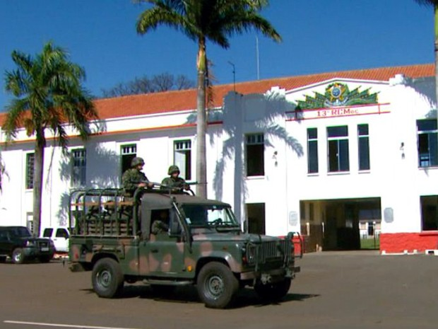 Comando do Exército admite que houve falha na segurança do local (Foto: Reprodução/EPTV)