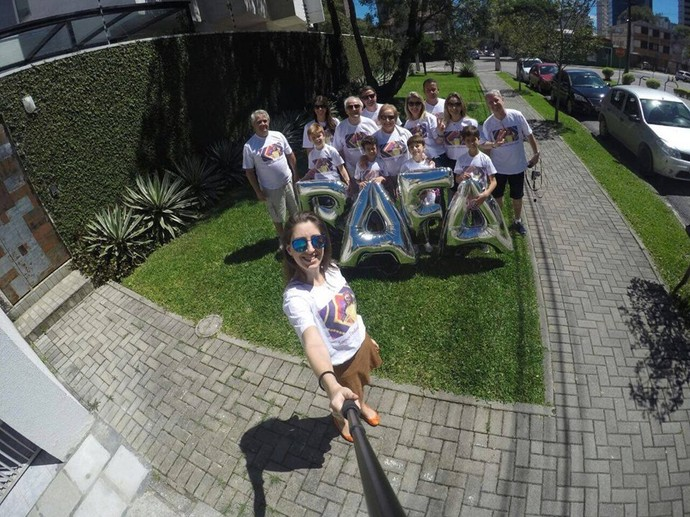 A torcida da gatinha, em Curitiba (Foto: arquivo pessoal)
