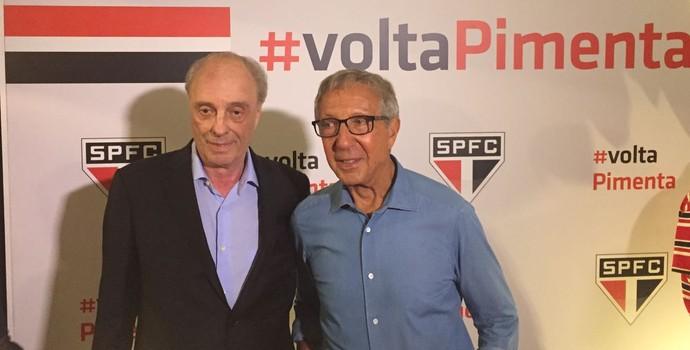 Pimenta e Abilio Diniz lançamento candidatura (Foto: Marcelo Hazan)