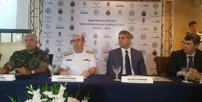 Esquema de segurança para Olimpíada é apresentado em Salvador (Foto: Juliana Almirante / G1 Bahia)