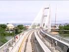 RJTV percorre trilhos da Linha 4 do Metrô pela ponte estaiada da Barra