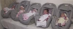 Quíntuplos vão para casa em Santos 4 meses após nascerem (Reprodução/TV Tribuna)