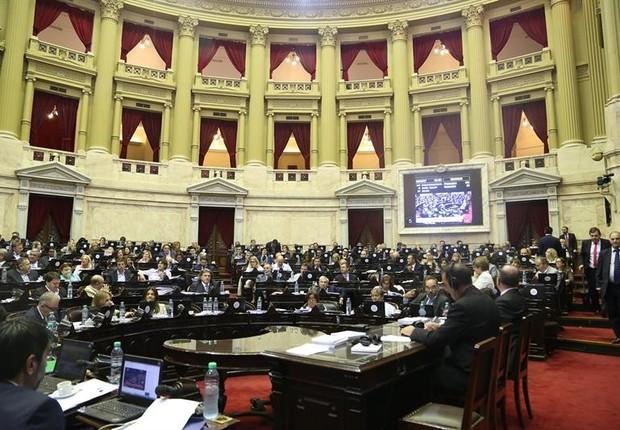 Câmara dos Deputados aprova reforma da Previdência na Argentina (Foto: Cámara de Diputados/EFE)