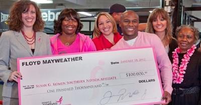 Floyd Mayweather doa dinheiro para pesquisas sobre a cura do câncer (Foto: Divulgação)