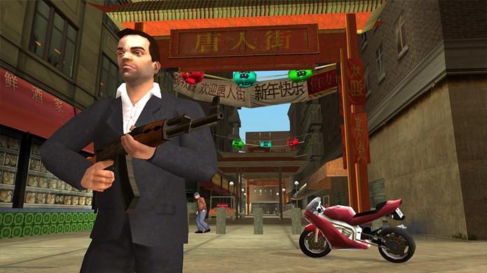 GTA Liberty City Stories levou jogadores de volta à cidade com novidades, como motos (Foto: Reprodução/App Advice)