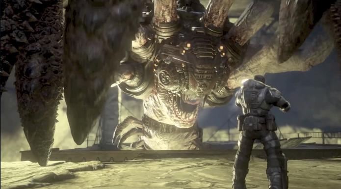 Corpse, a Aranha-Gigante de Gears of War (Foto: Reprodução / TechTudo)