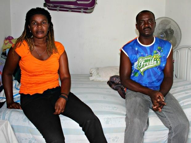 Haitianos em Manaus (Foto: Adneison Severiano G1/AM)