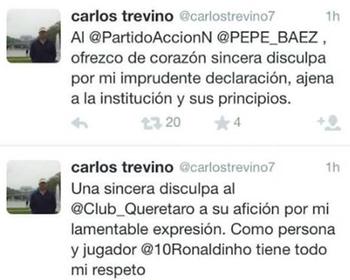 Político Carlos Treviño pede desculpas a Ronaldinho (Foto: Reprodução / Twitter)