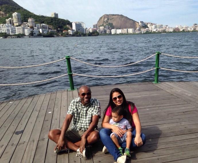 Nando Cunha e família em passeio (Foto: Arquivo pessoal)