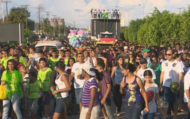 Cerca de 50 mil pessoas participaram da Marcha em Porto Velho (Foto: Bom Dia Amazônia)