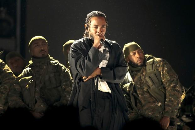 Kendrick Lamar no Grammy 2018 (Foto: getty images)