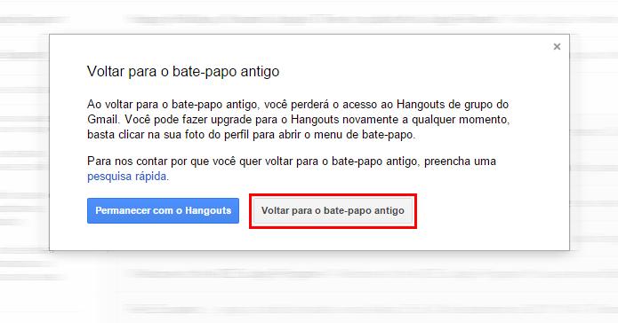 Talk possui menos recursos que o Hangouts (Foto: Reprodução/Gmail)
