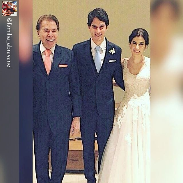 Silvio Santos e Rebeca com o marido (Foto: Reprodução/Instagram)