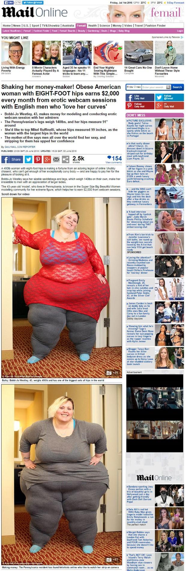 Bobbi-Jo Westley (Foto: Daily Mail / Reprodução)