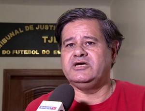 Augusto Vieira, presidente do Barcelona de Curicica (Foto: Reprodução SporTV)