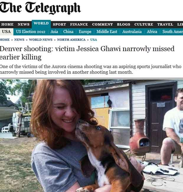 Jessica Ghawi, que morreu no ataque a um cinema nesta sexta (20)  (Foto: Reprodução)