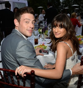 Cory Monteith e Lea Michele em evento em Los Angeles, nos Estados Unidos (Foto: Michael Buckner/ Getty Images )