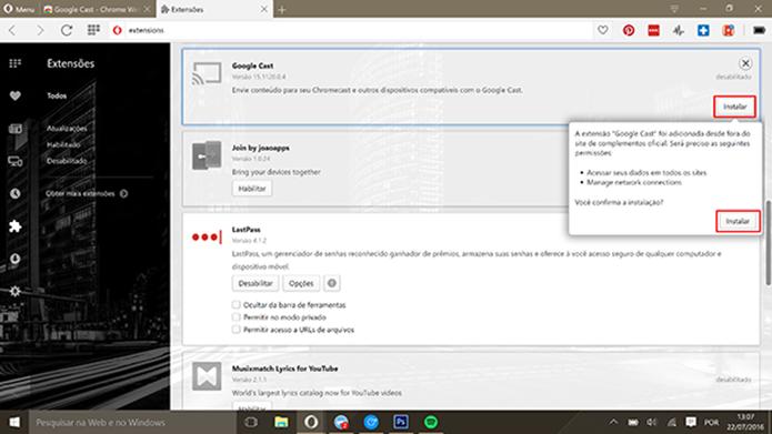Opera vai ganhar suporte ao Chromecast