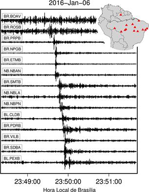 Registro sismológico no Brasil (Foto: Reprodução)
