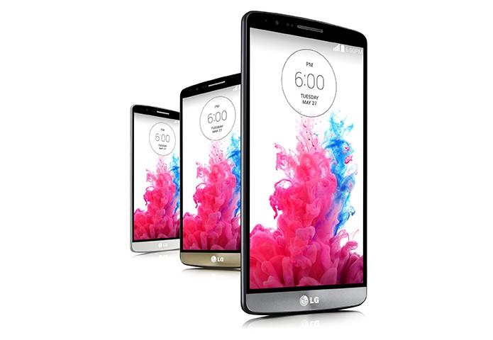 LG G3 é o novo top de linha da LG com tela 2K e bateria de 3.000 mAh de longa duração (Foto: Divulgação/LG)