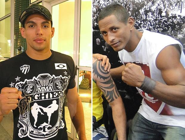 montagem Lucas Mineiro e Johnny Eduardo MMA UFC (Foto: Editoria de Arte)
