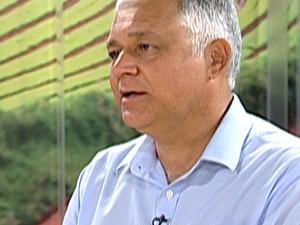 Márcio Gonçalves Oliveira, superintendente da Unidade de Negócio Leste da Sabesp  (Foto: Reprodução/TV Diário)