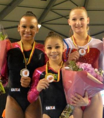 flavia saraiva e rebeca andrade Flanders International Team Challenge ginastica (Foto: Reprodução/Flanders International Team Challenge)