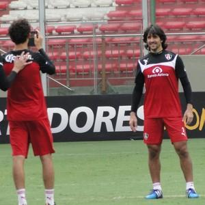 Villar treino Atlas-Mex (Foto: Fernando Martins Y Miguel)