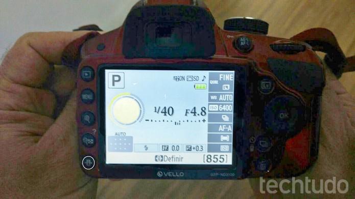 """Com a câmera no modo manual, clique no botão """"i"""" (Foto: Carol Danelli/TechTudo)"""
