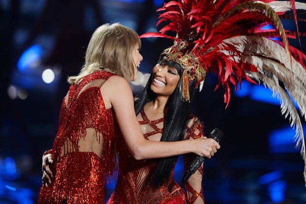 Taylor Swift e Nicki Minaj  (Foto: Getty Images / AFP)