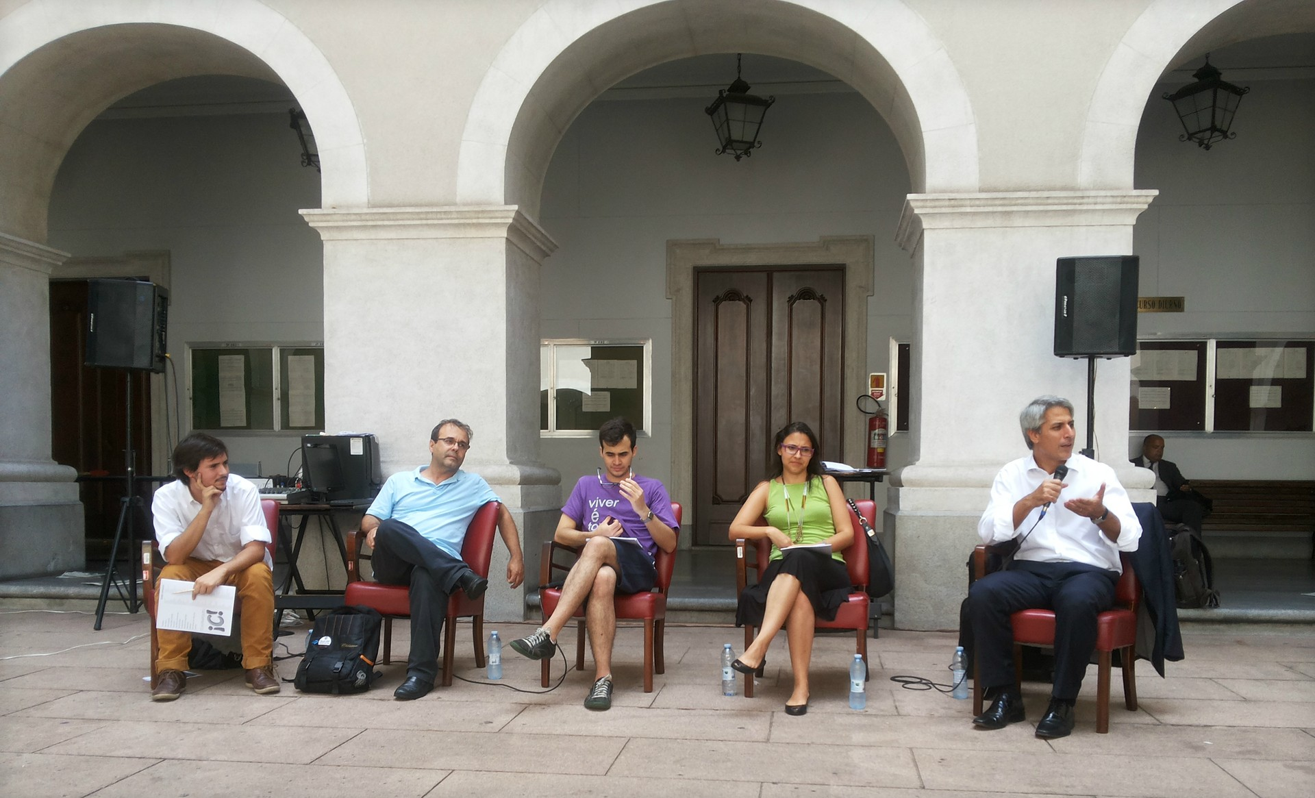 Defensores do Marco Civil discutem o projeto (Foto: Edson Caldas/Galileu)