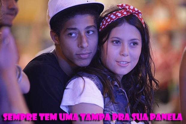 Pilha e Fabi no maior love! (Foto: Malhação / TV Globo)