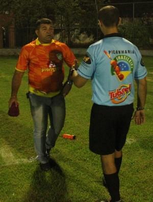 Péricles Veloso, técnico do Picos (Foto: Wenner Tito)
