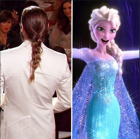 Penteado de Jared Leto é comparado com a princesa do filme Frozen  (Foto: Reprodução do Instagram)