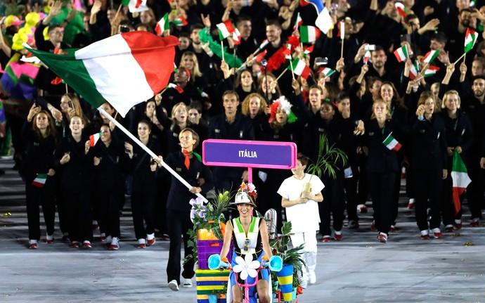 Itália Maracanã Abertura Olimpíadas Rio 2016 (Foto: Agência AP)