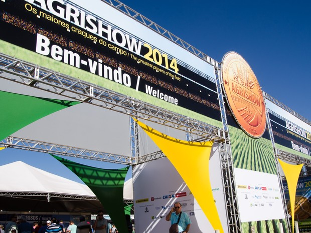 A Agrishow 2014 começa nesta segunda-feira (29) e vai até o dia 2 de maio, em Ribeirão Preto, SP (Foto: Érico Andrade/G1)
