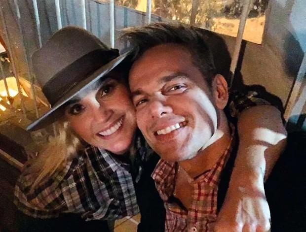 Flávia Alessandra e Otaviano Costa (Foto: .)