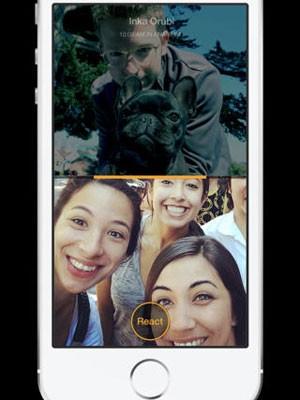 App Slingshot, do Facebook, que concorrerá com o Snapchat. (Foto: Divulgação)