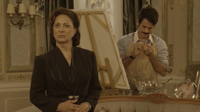 O malandro se passa por Candinho para ficar com a herança da milionária (Foto: TV Globo)