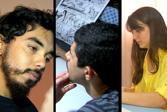 Ilustradores criaram diferentes versões da apresentadora Cris Ikeda (Foto: Reprodução / TV TEM)