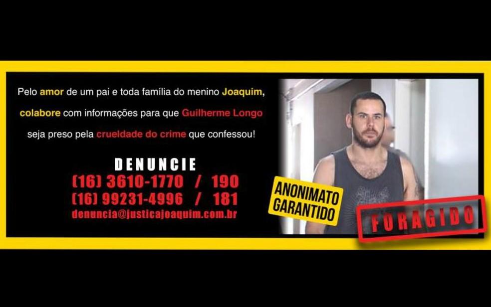 Pai de Joaquim chegou a investir R$ 2 mil em anúncio no Facebook para encontrar o suposto assassino do menino (Foto: Reprodução/Facebook)
