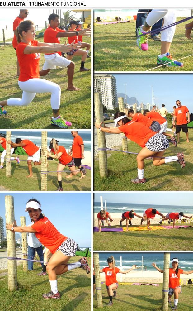 Mosaico, treinamento funcional, eu atleta (Foto: Editoria de Arte)