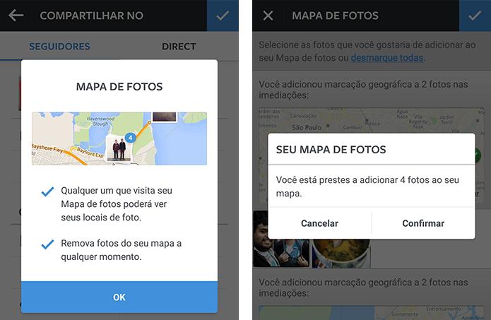 Para publicar fotos no mapa, usuário deve ativar recurso manualmente (Foto: Reprodução/Paulo Alves)