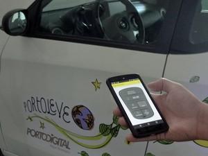 Chaveiro vai liberar carro pelo celular (Foto: Marina Barbosa / G1)